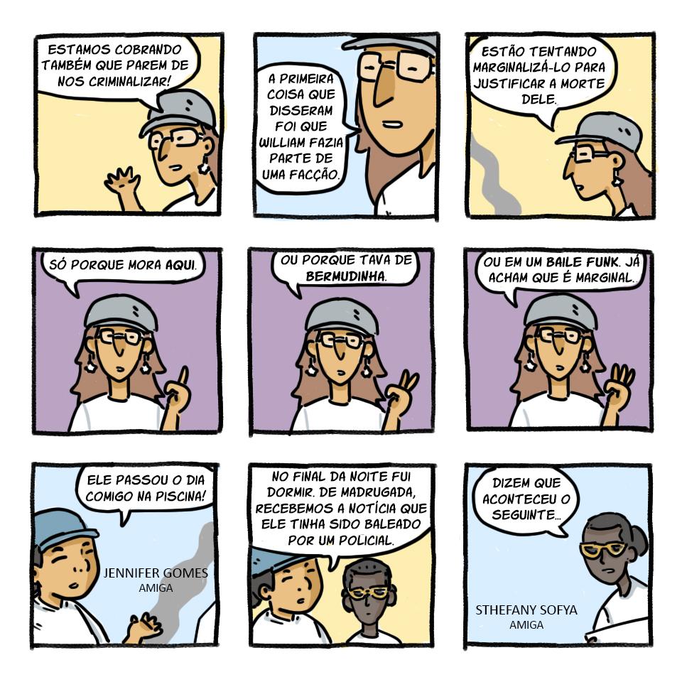 Em quadrinhos, a história de William, morto no brega funk | LeiaJá